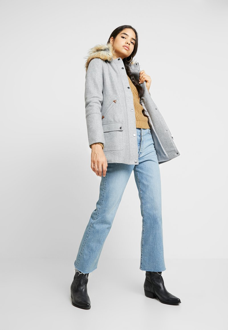 Vila - Classic coat - light grey melange