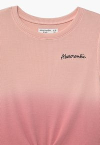 Abercrombie & Fitch - WAFFLE TIE FRONT - Print T-shirt - pink - 3