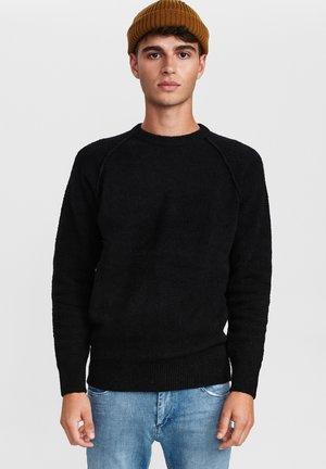 ARTIC BOUCLE  - Fleece jumper - black