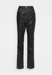 Missguided Tall - CONTRAST STITCH COATED WRATH - Straight leg jeans - black - 0