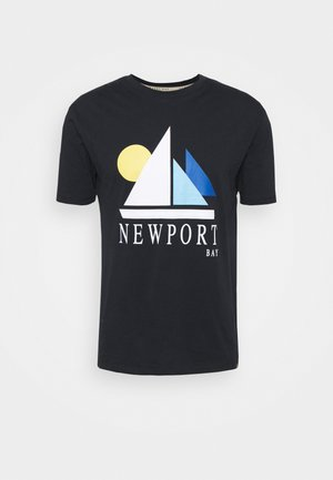 SAIL - T-shirt med print - navy