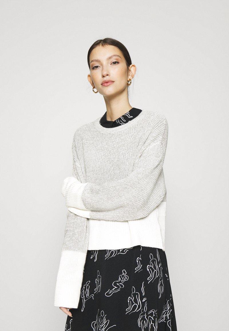 Even&Odd - Maglione - grey/white