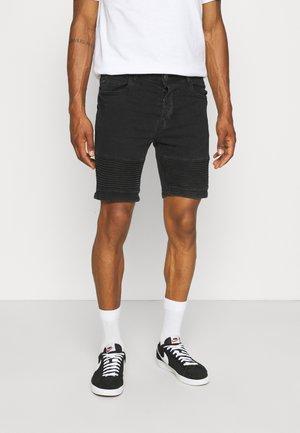 BIKER - Shorts di jeans - charcoal