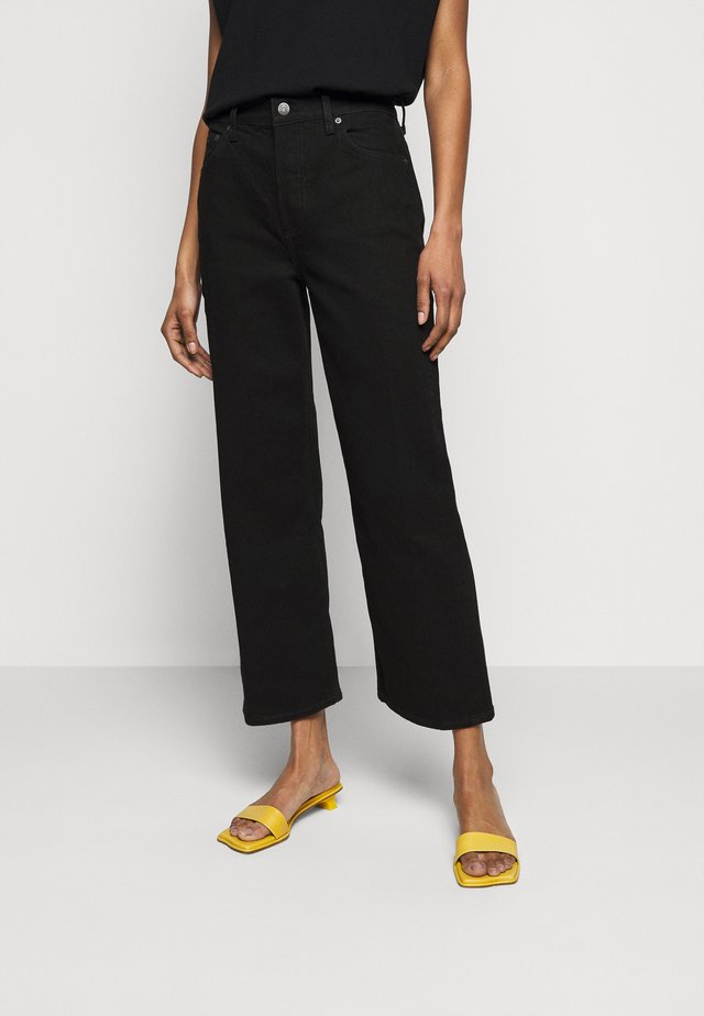 THE MIKEY HIGH RISE WIDE LEG - Relaxed fit jeans - black beauty