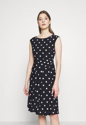 PRINTED MATTE DRESS - Jerseyklänning - navy