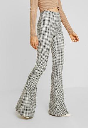 GINGHAM GIRL PANT - Trousers - black/grey