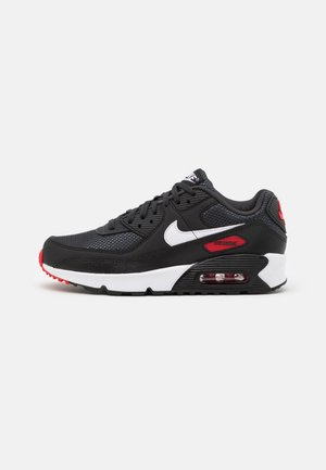 AIR MAX 90 UNISEX - Trainers - dark smoke grey/white/black/university red