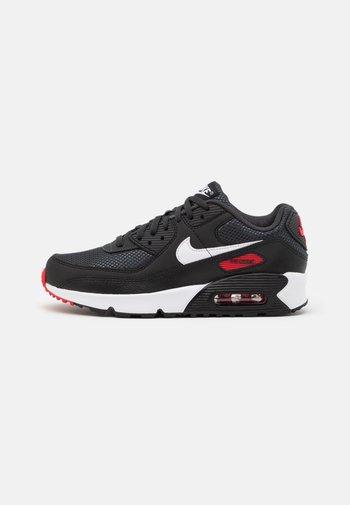 AIR MAX 90 UNISEX - Sneakers laag - dark smoke grey/white/black/university red