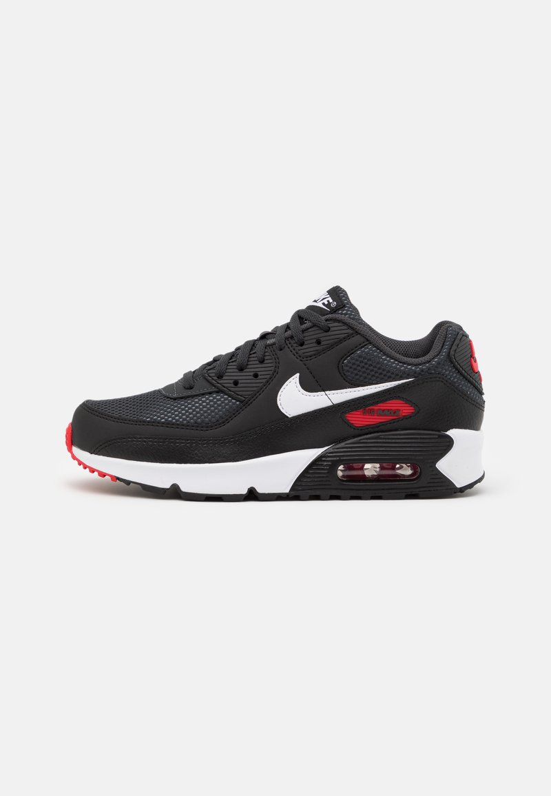 Nike Sportswear - AIR MAX 90 UNISEX - Sneakers laag - dark smoke grey/white/black/university red