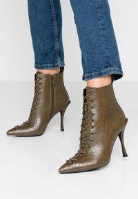 BEBO - LEGACY - High heeled ankle boots - khaki - 0