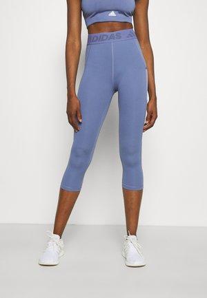 3 BAR TECHFIT AEROREADY TIGHT - 3/4 sports trousers - orbit violet/ambient blush