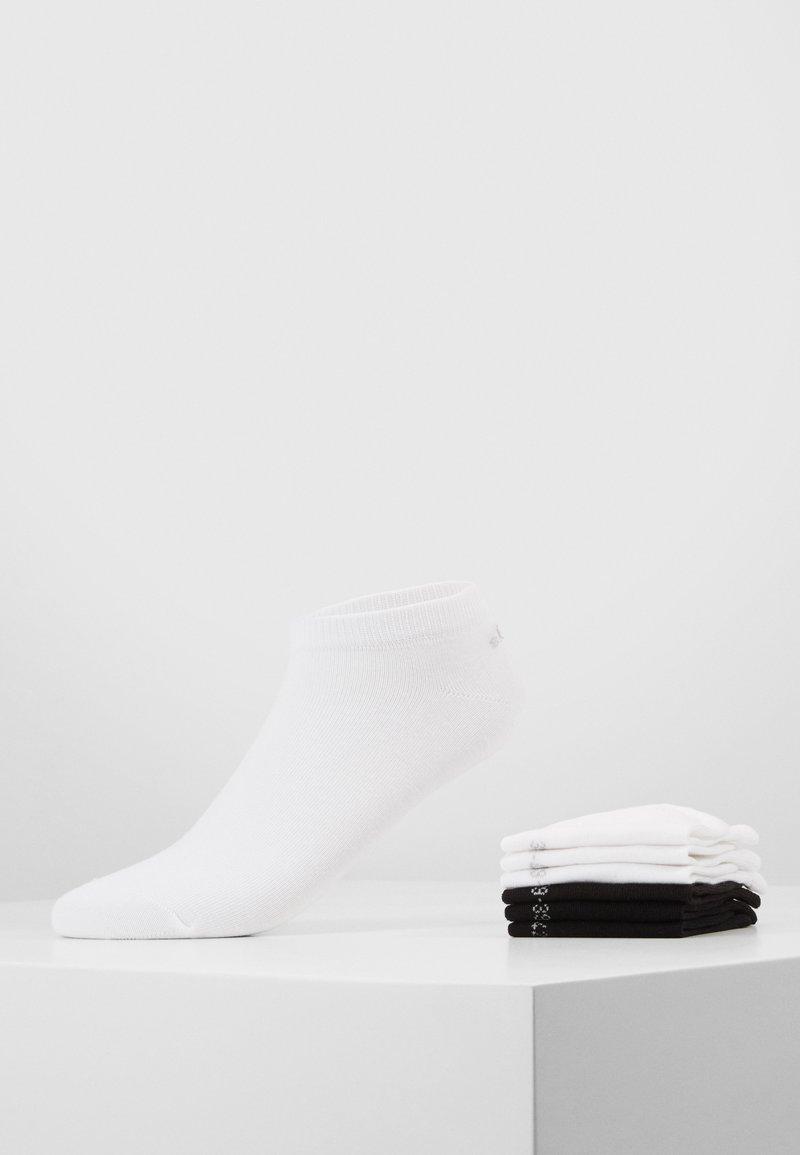 s.Oliver - 6 PACK - Trainer socks - black/white