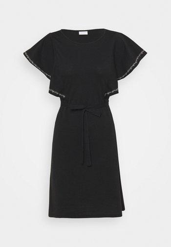 VIOPPA TIE BELT DRESS - Vestito di maglina - black