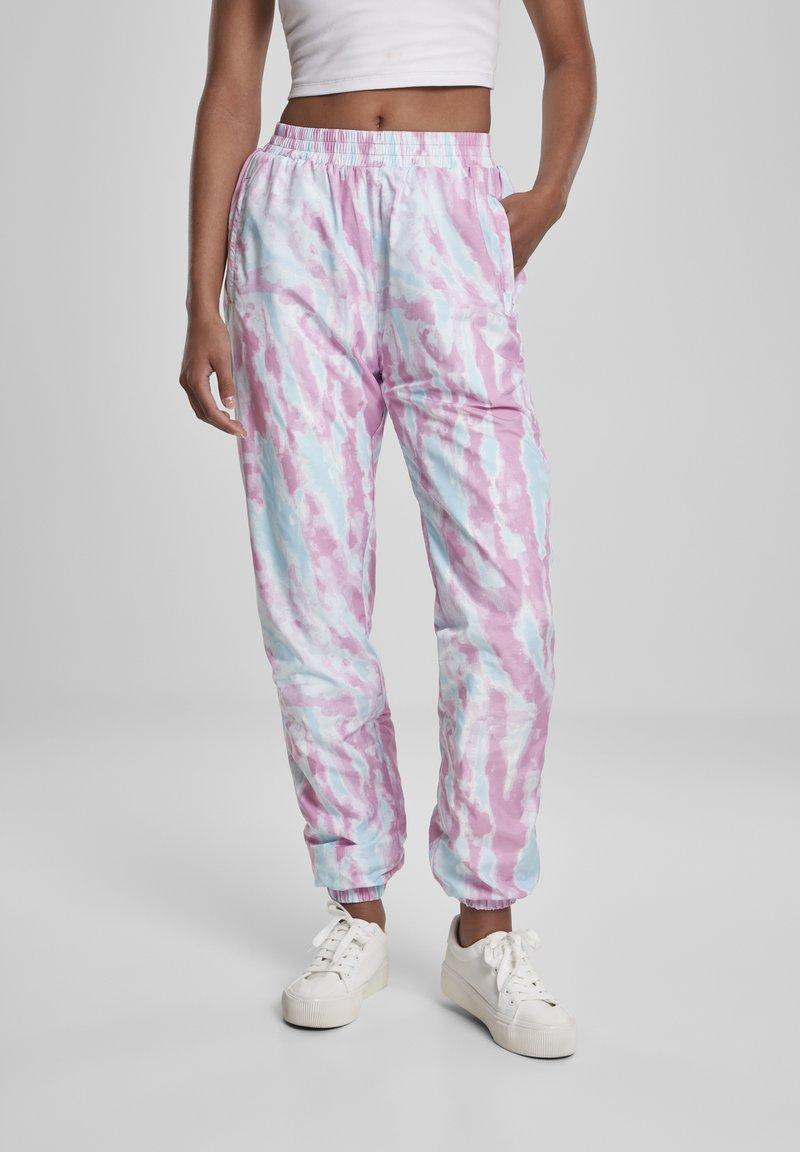 Urban Classics - FRAUEN  - Pantalones deportivos - aquablue/pink