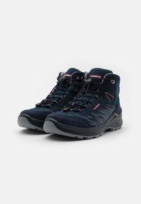 Lowa - ZIRROX GTX MID JUNIOR UNISEX - Hiking shoes - navy/rosé - 1