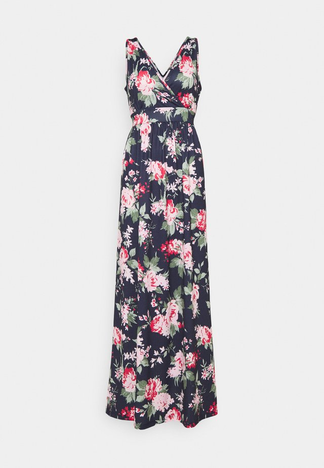 Maxi dress - dark blue/pink