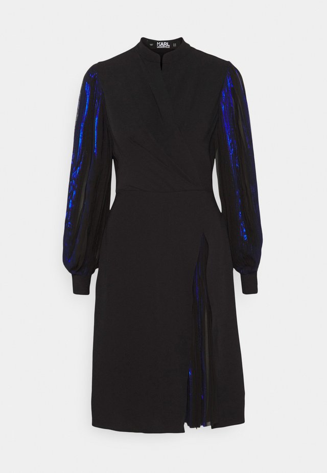 PLEATED DRESS - Sukienka koktajlowa - black