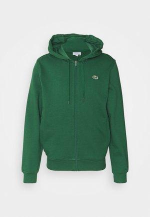 CLASSIC HOODIE - veste en sweat zippée - green