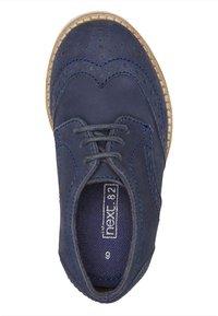 Next - LEATHER BROGUES  - Šněrovací boty - blue - 1