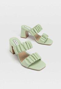 Stradivarius - High heeled sandals - mint - 2