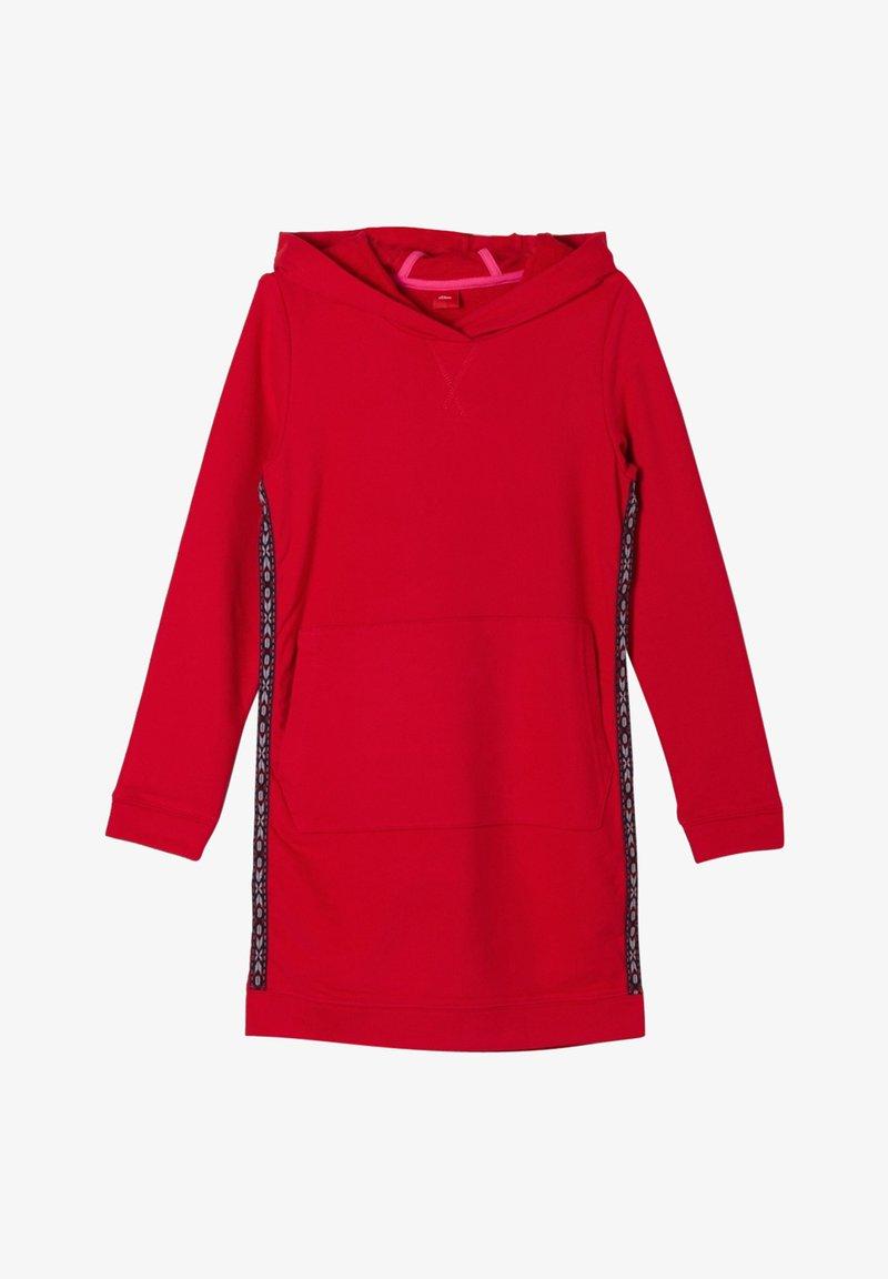 s.Oliver - MIT GALONSTREIFEN - Day dress - red