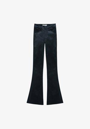 BESCHICHTETE - Spodnie materiałowe - mottled black