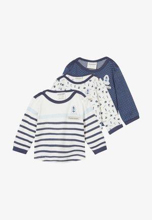 COUCOU MON PETIT 3 PACK - T-shirt à manches longues - light blue
