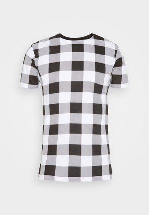 DERULO - Print T-shirt - black/white