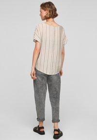 Q/S designed by - Blouse - beige stripes - 2