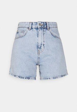 DAGNY MOM - Denim shorts - sky blue
