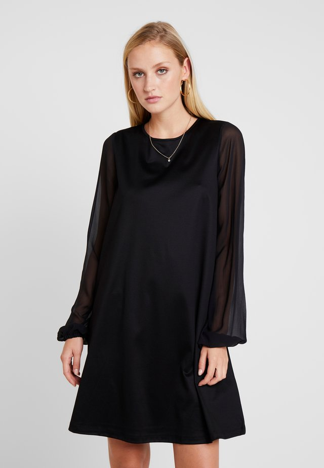 DRESS LONG SLEEVE STRAP DETAIL - Jerseykjoler - pure black