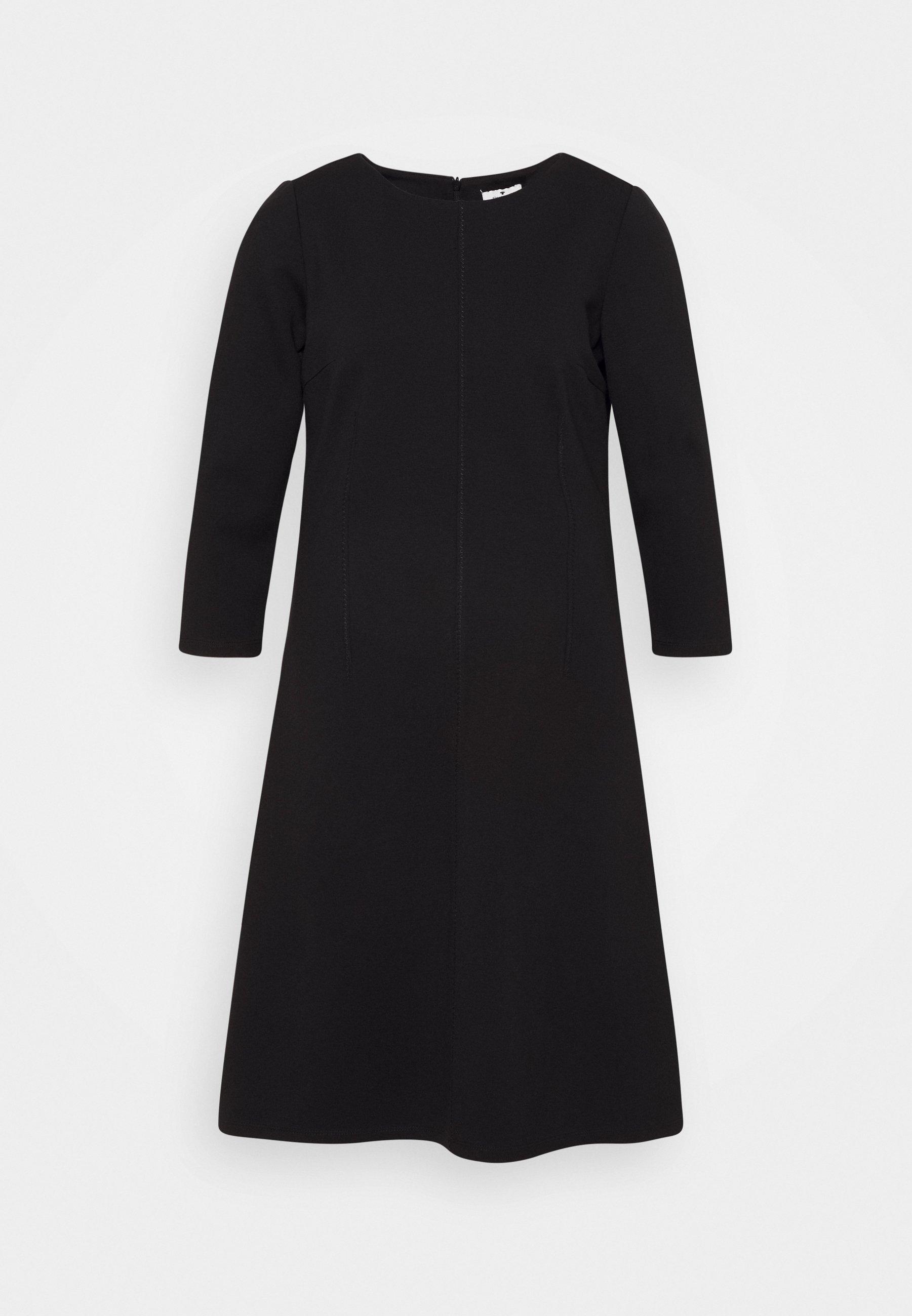 Women DRESS WITH ZIGZAG - Jersey dress
