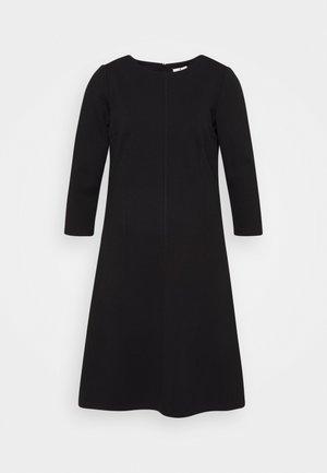 DRESS WITH ZIGZAG - Vestido ligero - deep black