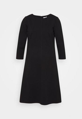 DRESS WITH ZIGZAG - Jersey dress - deep black