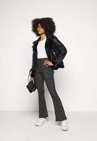 Topshop Petite - CASSY - Faux leather jacket - black - 1