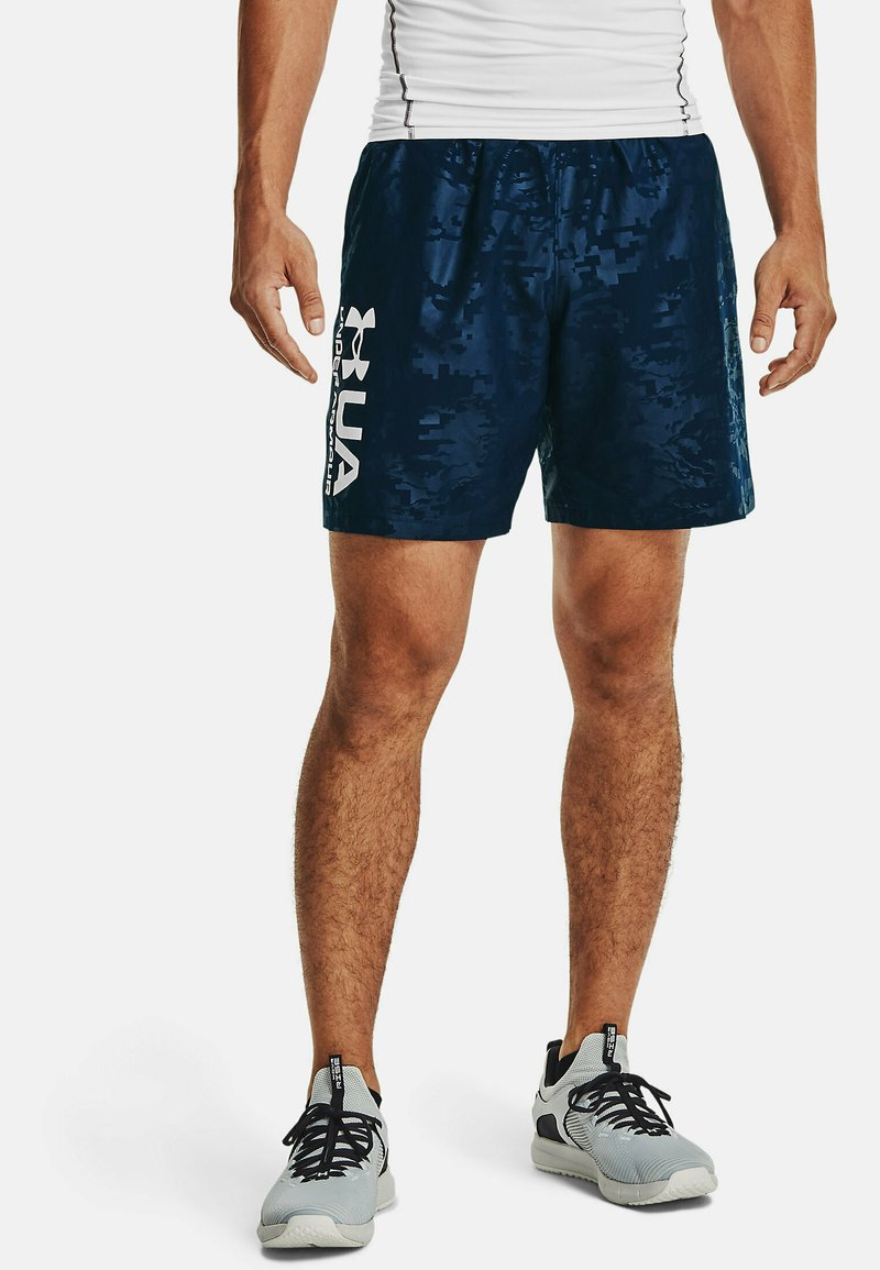 Under Armour - EMBOSS  - Shorts - academy // white