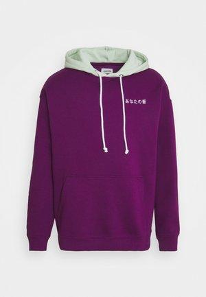 CONTRAST HOODIE UNISEX - Collegepaita - purple
