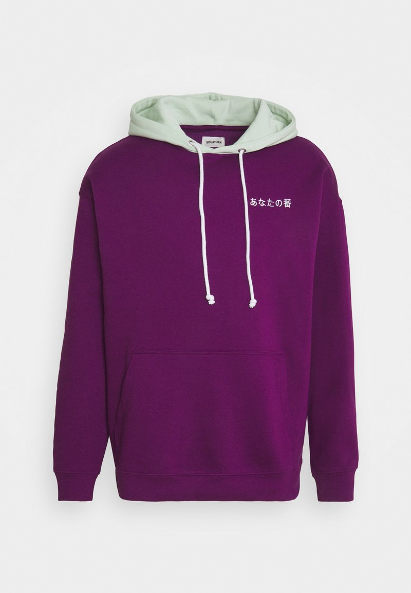 YOURTURN - CONTRAST HOODIE UNISEX - Felpa - purple