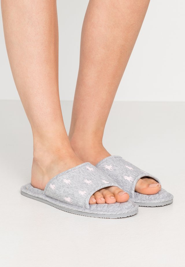 ANTERO - Slippers - grey/light pink