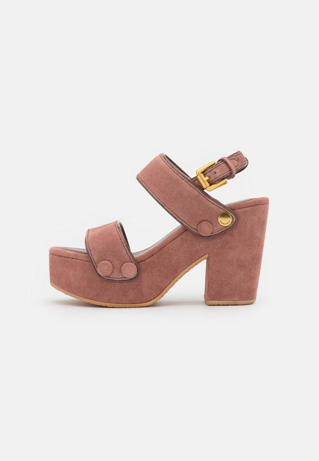 GALY - Korkeakorkoiset sandaalit - pink