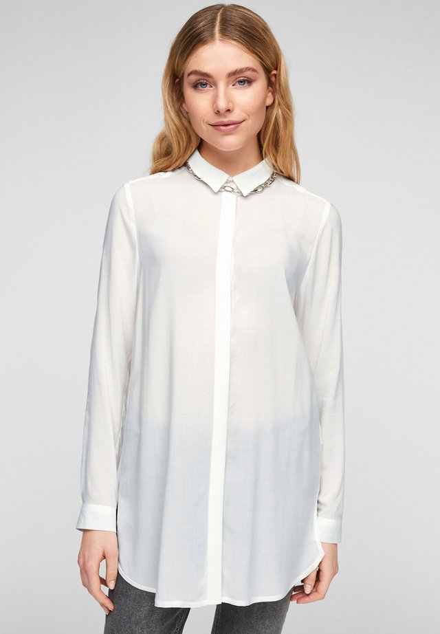 Button-down blouse - cream