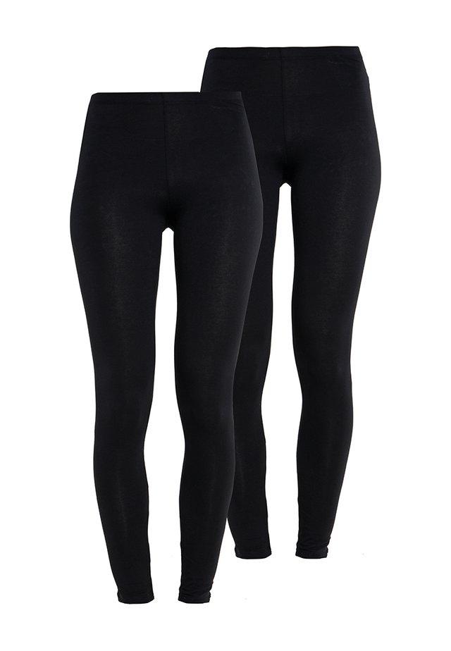 2 PACK - Leggingsit - black/black