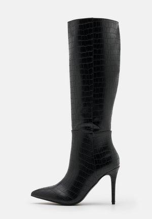 PRESIDENT - Boots med høye hæler - black