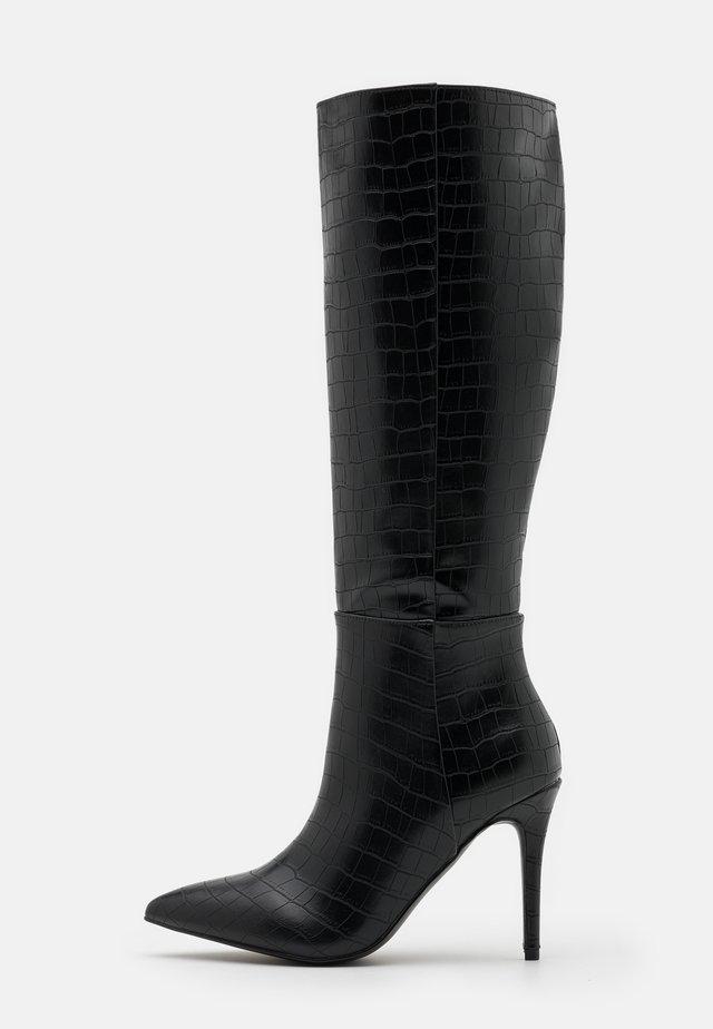PRESIDENT - Laarzen met hoge hak - black