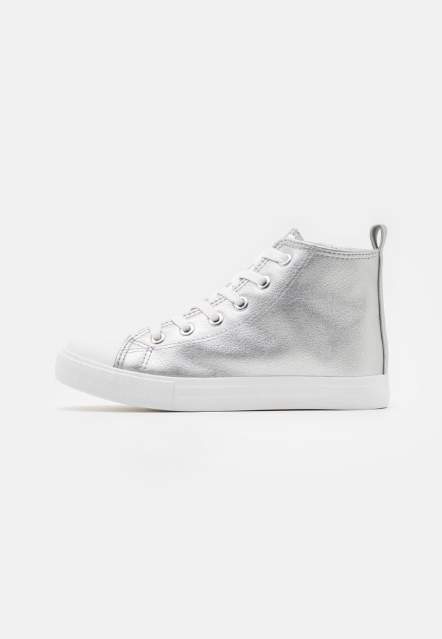 CLASSIC LACE UP - Sneakers hoog - silver metallic