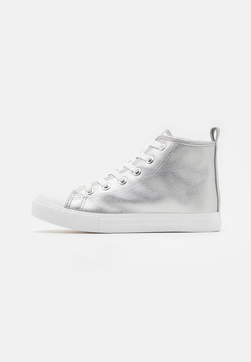 Cotton On - CLASSIC LACE UP - Vysoké tenisky - silver metallic