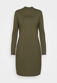 HUGO - DASSY - Jersey dress - beige/khaki - 4
