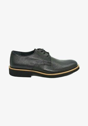 HAND MADE - Casual lace-ups - piano black