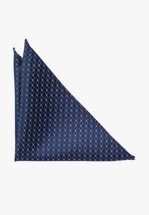 Pocket square - blue, brown