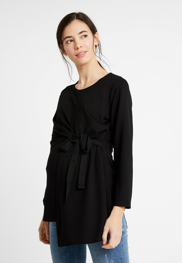BLOUSE TIE - Topper langermet - black